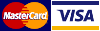 MasterCard and Visa are supported!